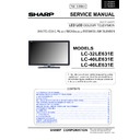 Sharp LC-46LE631E (serv.man2) Service Manual