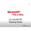 Sharp LC-46LE631E Service Manual