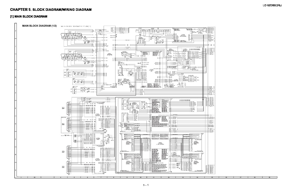 Sharp Lc 52d65e Servman6 Service Manual View Online Or Download Wiring Diagram