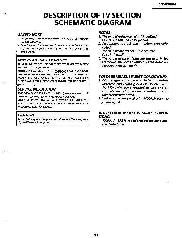 vt-3705h (serv man13) service manual