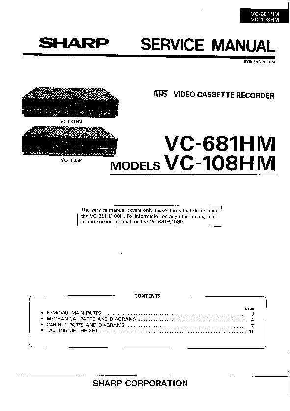 sharp vcr service manuals and schematics repair information for rh servlib com sharp vcr manual archives sharp vcr manual archives