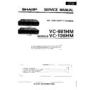 Sharp VC-108 Service Manual