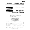 Sharp VC-205HM Service Manual