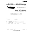 Sharp VC-600 Service Manual