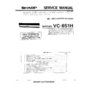 Sharp VC-651H (serv.man2) Service Manual