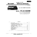 Sharp VC-A140HM Service Manual