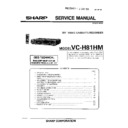 Sharp VC-H81HM Service Manual