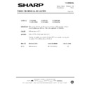 Sharp VC-MH69HM (serv.man25) Technical Bulletin