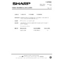 Sharp VC-MH69HM (serv.man29) Technical Bulletin