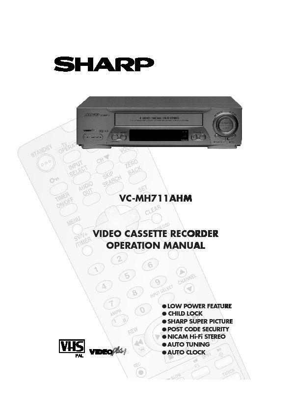 sharp vc mh711hm serv man3 service manual view online or rh servlib com Sony VCR RCA VCR