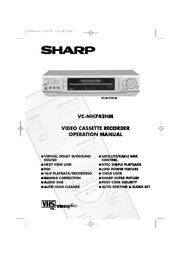 sharp vc mh742hm serv man32 user guide operation manual view rh servlib com Sharp VCR Owner's Manual Sharp VCR Vc A410