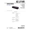 Sony AC-LF1HR, DAV-LF1H Service Manual