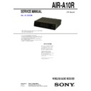 Sony AIR-A10R Service Manual