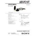 Sony AIR-PC10T Service Manual