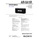 Sony AIR-SA15R, AIR-SA20PK Service Manual