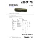 Sony AIR-SA17TI Service Manual