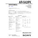 Sony AIR-SA20PK Service Manual