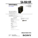 air-sw10ti, sa-wa10r service manual