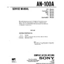 Sony AN-100A, ICF-SW100E, ICF-SW100S Service Manual