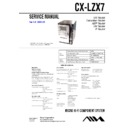 Sony AWP-ZX7, CX-LZX7 Service Manual