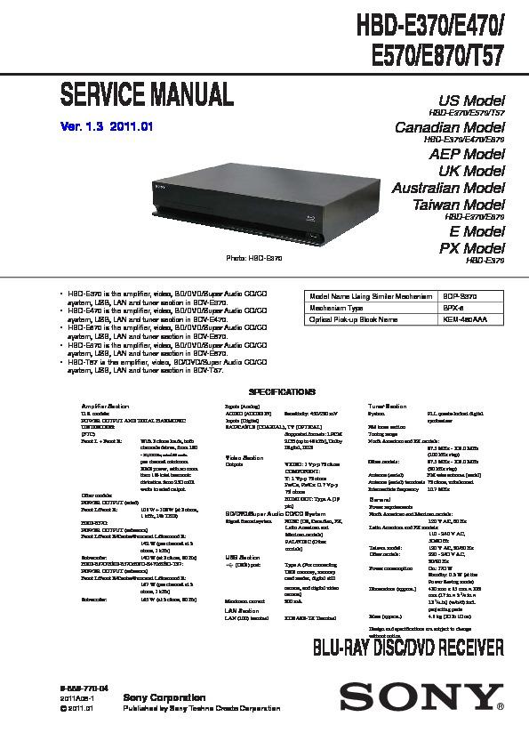 sony bdv e370 bdv e470 bdv e570 bdv e870 bdv t57 hbd e370 hbd rh servlib com Sony BDV E380 Home Theater Sony Bdv