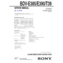 Sony BDV-E385 Service Manual