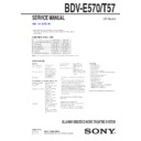 Sony BDV-E570 Service Manual