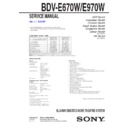 Sony BDV-E670W Service Manual