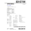 Sony BDV-E770W Service Manual