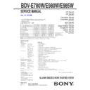 Sony BDV-E780W Service Manual
