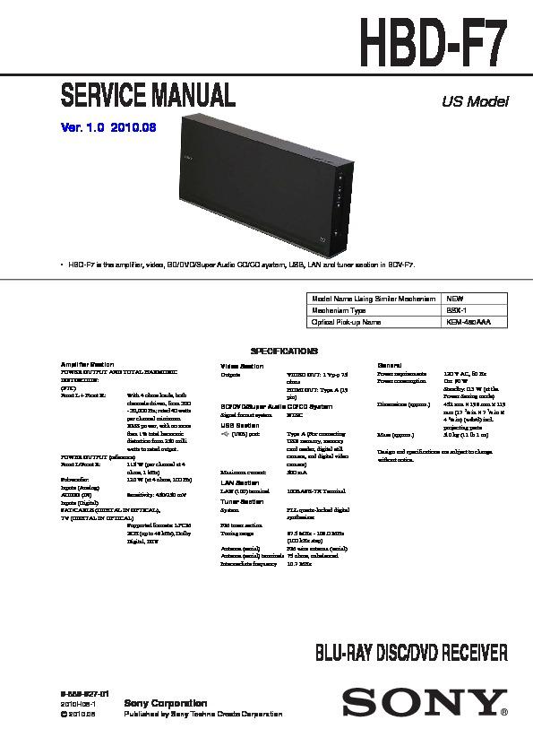 Techno 4 amplifier service manual