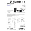 Sony BDV-IS1000, HT-IS100, SA-WIS100, SS-IS15 Service Manual