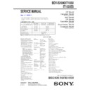 Sony BDV-IS1000 Service Manual