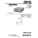 cdp-s3, mhc-s3 service manual