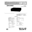 Sony CDP-S39 Service Manual
