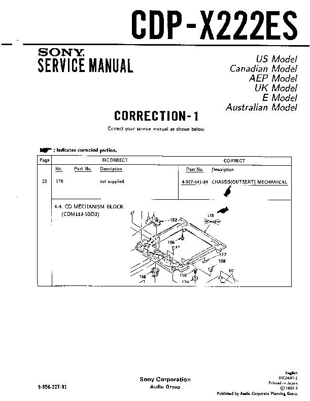 sony cdp cx355 repair manual