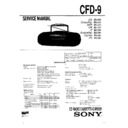 Sony CFD-9 Service Manual