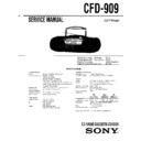 Sony CFD-909 Service Manual