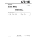 Sony CFD-910 (serv.man4) Service Manual