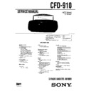 Sony CFD-910 Service Manual