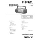 Sony CFD-922L (serv.man2) Service Manual