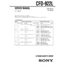 Sony CFD-922L Service Manual