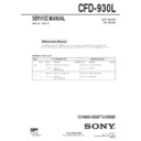 Sony CFD-930L Service Manual