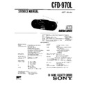 Sony CFD-970L Service Manual