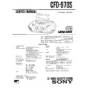 Sony CFD-970S Service Manual