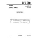 Sony CFD-980 (serv.man3) Service Manual