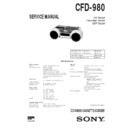 Sony CFD-980 Service Manual