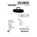 Sony CFD-DW222 (serv.man2) Service Manual