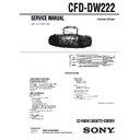 Sony CFD-DW222 (serv.man3) Service Manual