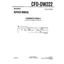 Sony CFD-DW222 (serv.man5) Service Manual